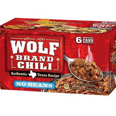 Wolf Brand Chili (15 oz. cans, 6 ct.)