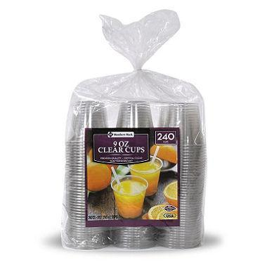 Clear Plastic Cups (9 oz., 240 ct.) - EZneeds