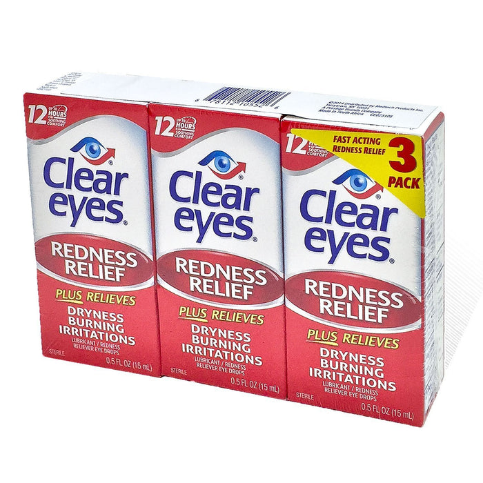 Clear Eyes Eye Drops (0.5 oz., 3 pk.) - EZneeds