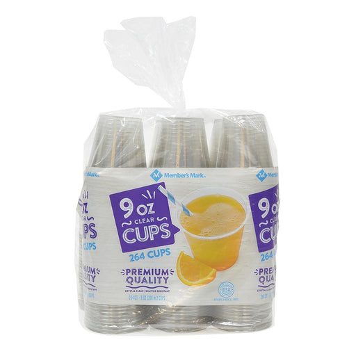 Clear Plastic Cups (9 oz., 264 ct.) - EZneeds