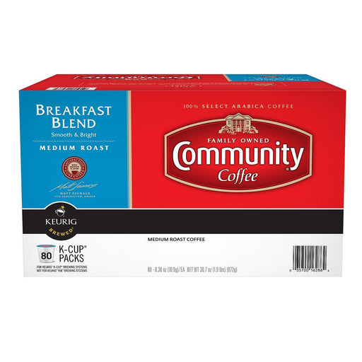 Community Coffee, Breakfast Blend (80 K Cups) - EZneeds