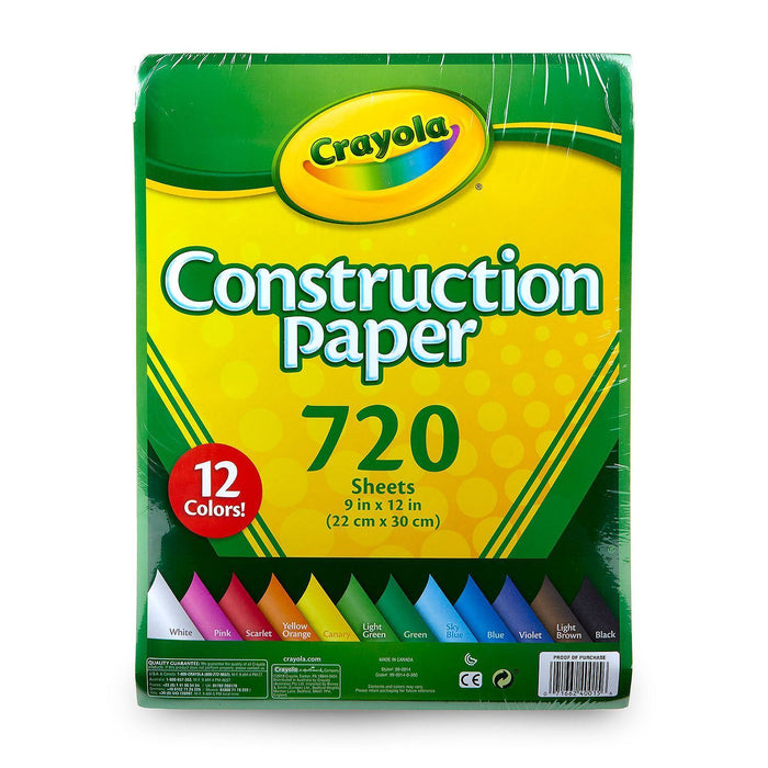 Crayola Bulk Construction Paper, 12 Assorted Colors (720 ct.) - EZneeds