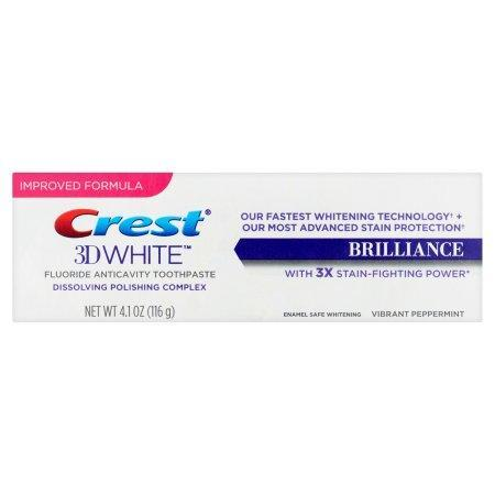Crest 3D White Brilliance Toothpaste, Vibrant Peppermint (4.1 oz.) - EZneeds