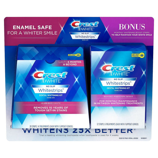 Crest 3D Whitestrips + Monthly Booster Strips (40 ct.) - EZneeds