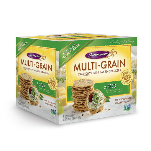 Crunchmaster 5 Seed Multigrain Cracker (10 oz., 2 ct.) - EZneeds