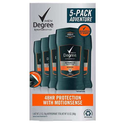 Degree for Men Advanced Protection Antiperspirant, Adventure (2.7 oz., 5 pk.) - EZneeds