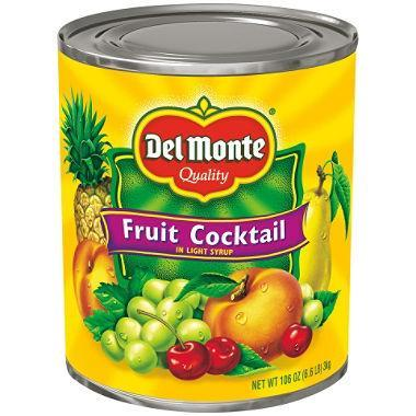 Del Monte Light Syrup Fruit Cocktail (106 oz. can) - EZneeds