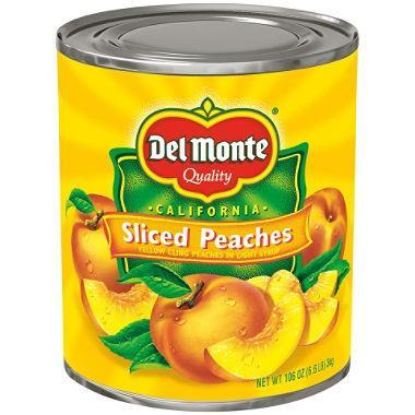 Del Monte Sliced Peaches in Light Syrup (106 oz. can) - EZneeds