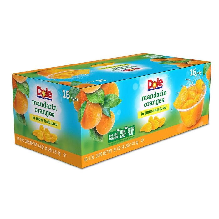 Dole Mandarin Oranges in 100% Fruit Juice (4 oz., 16 ct.) - EZneeds