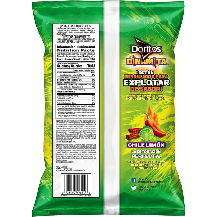 Doritos Dinamita Chile Limon Tortilla Chips (17.5 oz.) - EZneeds