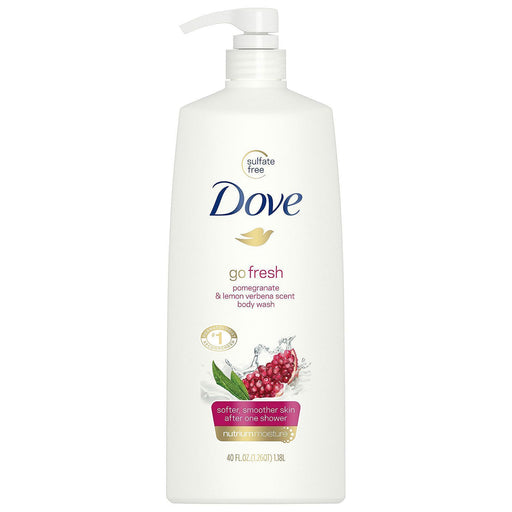 Dove Go Fresh Revive Body Wash, Pomegranate and Lemon Verbena (40 fl. oz.) - EZneeds