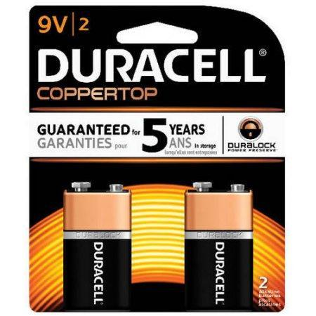 Duracell Coppertop Alkaline 9V Batteries (2 pk.)