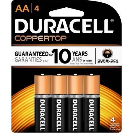 Duracell Coppertop Alkaline AA Batteries (4 pk.)