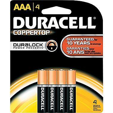 Duracell Coppertop Alkaline AAA Batteries (4 pk.)