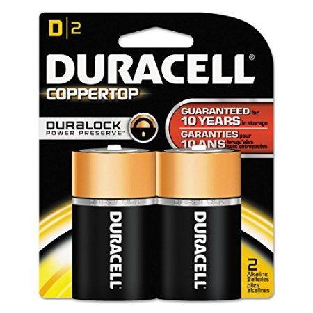 Duracell Coppertop Alkaline D Batteries (2 pk.)
