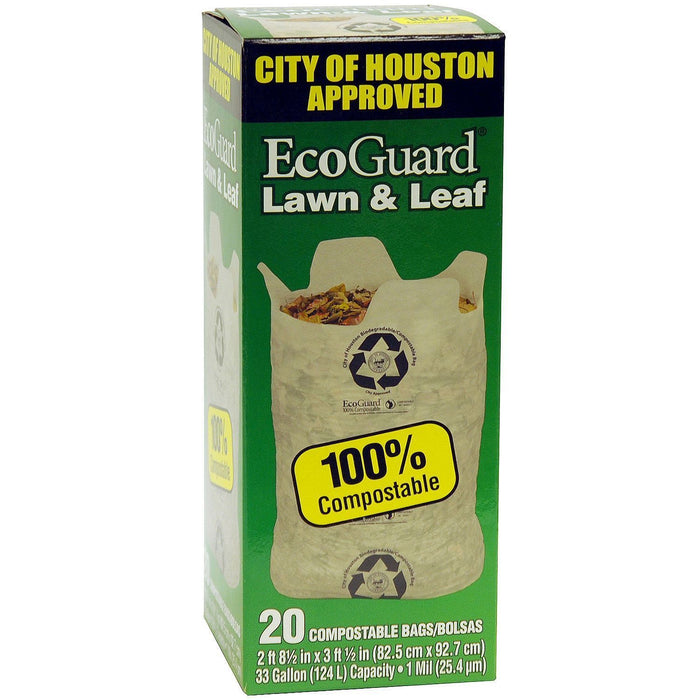 EcoGuard City of Houston Lawn & Leaf Bags (20 ct.)