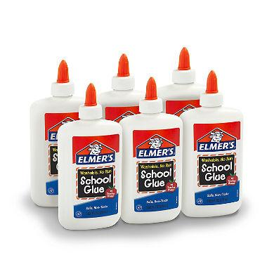 Elmer's Liquid School Glue, Washable (7.6 oz., 6 ct.)