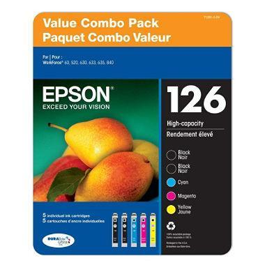 Epson DURABrite T126 Series Ink (2 Black, 3 Color)