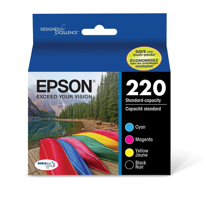 Epson T220 Series Ink (2 Black, 1 Cyan, 1 Magenta, 1 Yellow)