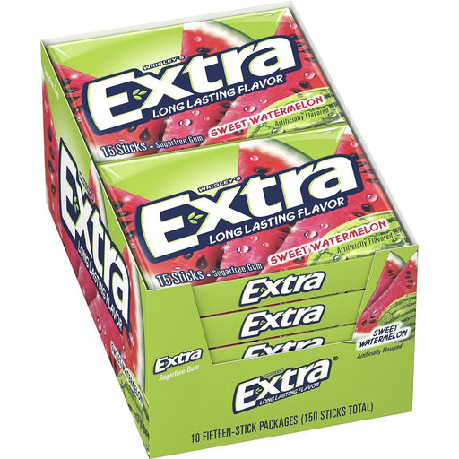 Extra Sweet Watermelon Gum (15 sticks, 10 ct.)