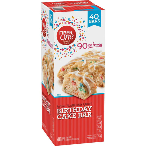 Fiber One 90 Calorie Birthday Cake Bar (0.89 oz., 40 ct.)
