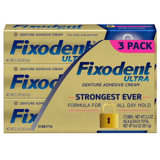 Fixodent Ultra Max Hold Dental Adhesive (2.2 oz. 3 pk.) - EZneeds