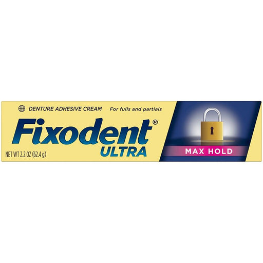 Fixodent Ultra Max Hold Dental Adhesive (2.2 oz.) - EZneeds