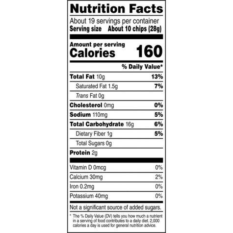Fritos Scoops Corn Snacks (19.125 oz.) Nutrition Facts - EZneeds