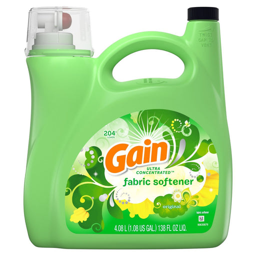 Gain Ultra Concentrated Liquid Fabric Softener, Original (138 fl. oz., 204 loads) - EZneeds