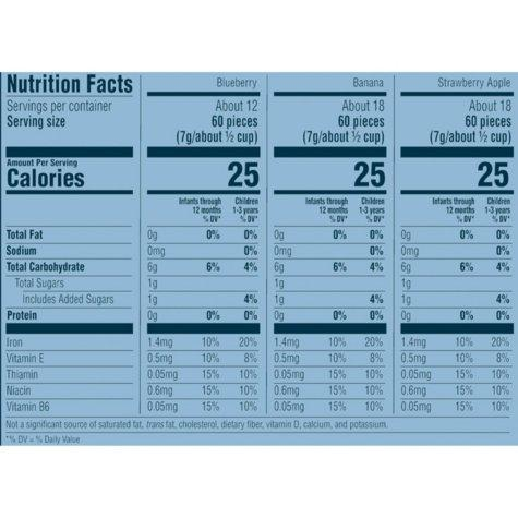 Gerber Graduates Puffs Cereal Snack Variety Pack (1.48 oz., 8 ct.) Nutrition Facts - EZneeds