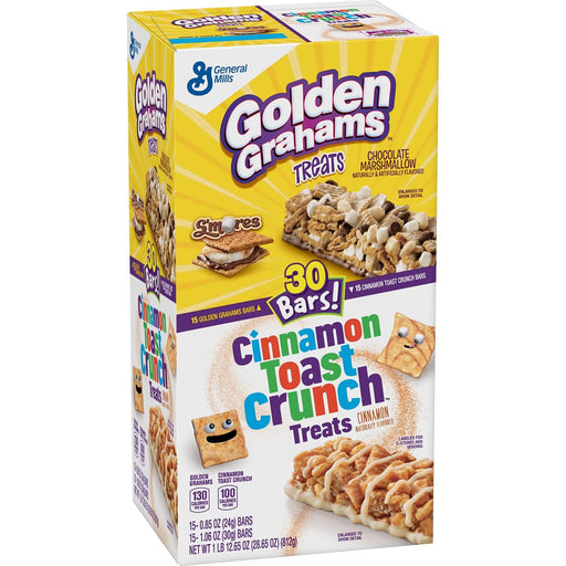 Golden Graham and Cinnamon Toast Crunch Treat Bars (30 ct.)