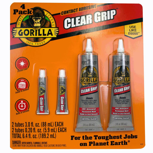 Gorilla Clear Grip (4 pk.)