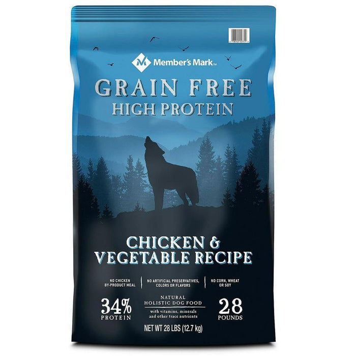 Grain-Free Chicken & Vegetable Recipe Dry Dog Food (28 lb.) - EZneeds