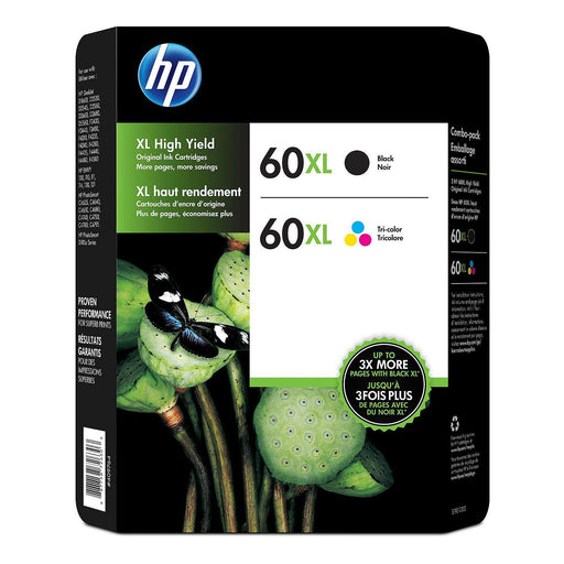 HP 60XL High Yield (Black/Tri-color, 2 pk.)