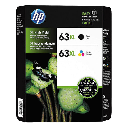 HP 63XL L0R44BN High-Yield (Black/Tri-Color, 2 pk.)