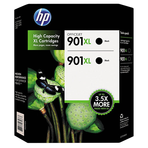 HP 901XL High Yield Original Ink Cartridges (Black, 2 pk., 700 Page Yield)