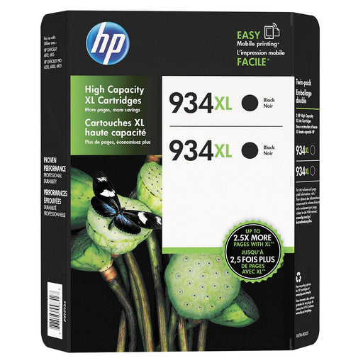 HP 934 XL High-Yield Ink (Black, 2 pk., 1,000 Page Yield)