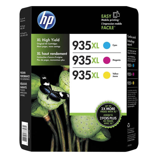HP 935 XL High-Yield Ink (1 XL Cyan, 1 XL Magenta, 1 XL Yellow)