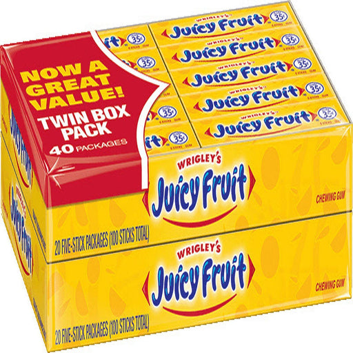 Juicy Fruit Original Bubble Gum (5 ct., 40 pk.)