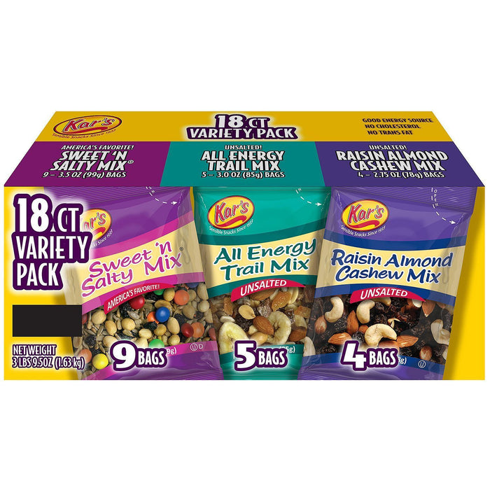 Kar's Nut & Fruit Mix Variety Pack (18 ct.)