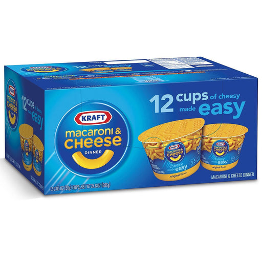 Kraft Macaroni & Cheese Dinner (2.05 oz. cups, 12 ct.)