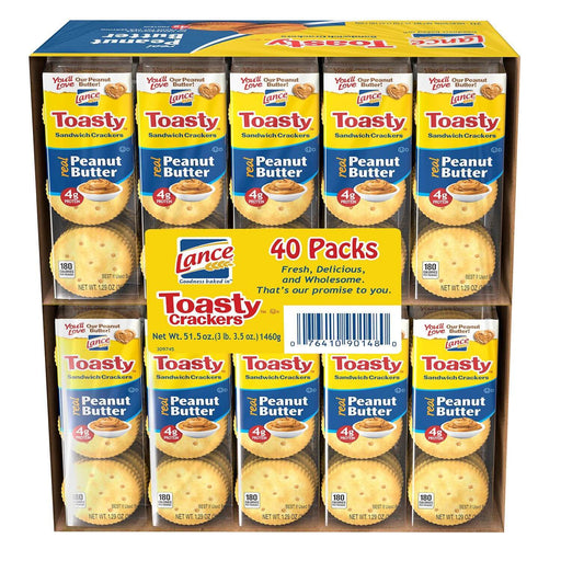 Lance Toasty Peanut Butter Sandwich Crackers (40 ct.) - EZneeds