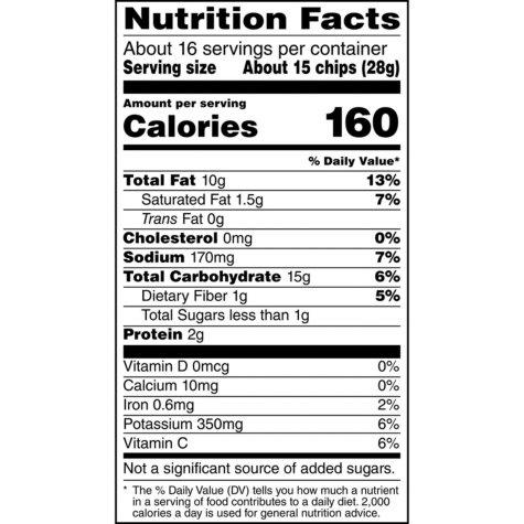 Lay's Classic Potato Chips (15.875 oz.) Nutrition Facts - EZneeds