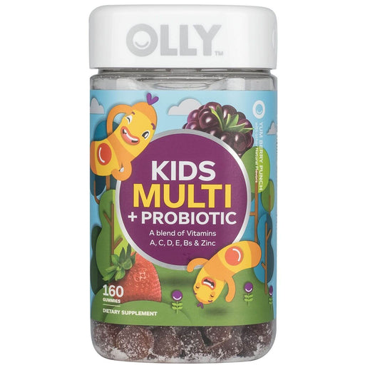 Lil' Ollys Kids' Multi + Probiotic Yum Berry Punch Vitamin Gummies (160 ct.) - EZneeds