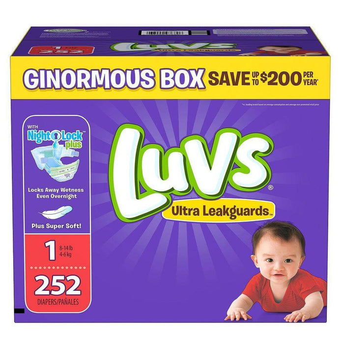 Luvs Ultra Leakguards Diapers (Size 1, 252 ct.) - EZneeds