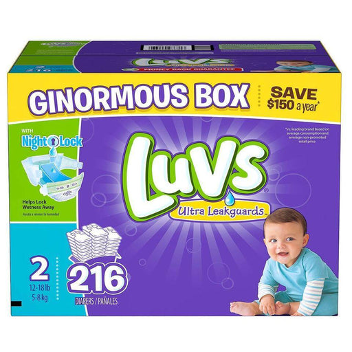 Luvs Ultra Leakguards Diapers (Size 2, 216 ct.) - EZneeds