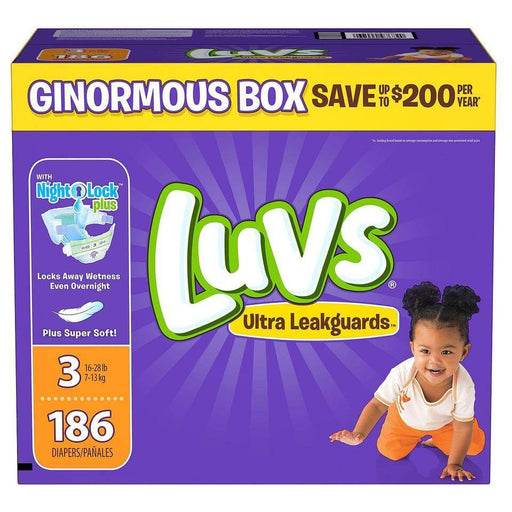Luvs Ultra Leakguards Diapers (Size 3, 186 ct.) - EZneeds