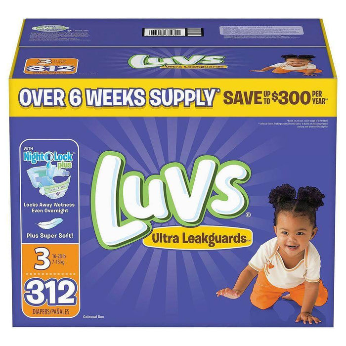 Luvs Ultra Leakguards Diapers (Size 3, 312 ct.) - EZneeds