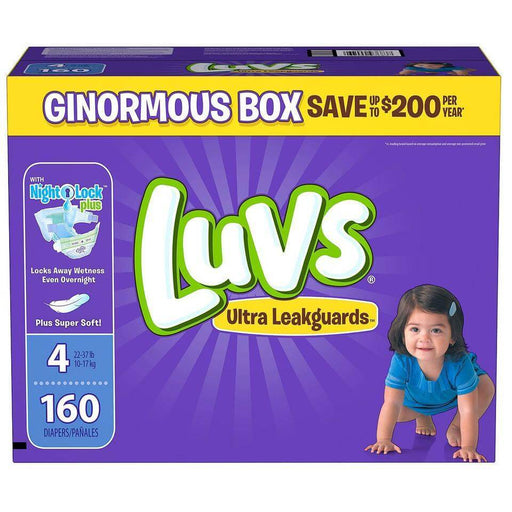 Luvs Ultra Leakguards Diapers (Size 4, 160 ct.) - EZneeds