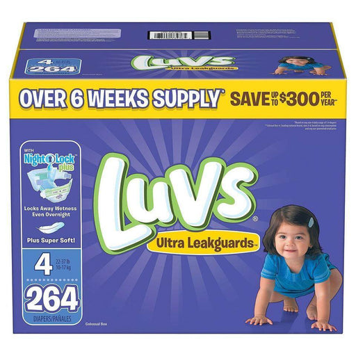 Luvs Ultra Leakguards Diapers (Size 4, 264 ct.) - EZneeds